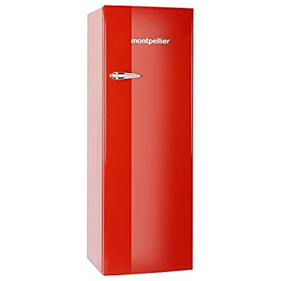 Montpellier MAB340R 61cm Wide Retro Freestanding Tall Fridge - Red