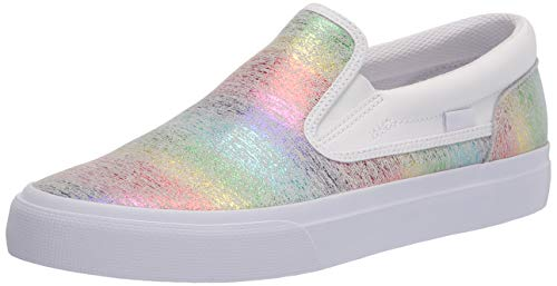 DC womens Trase Slip Skate Shoe, Rainbow, 7.5 US