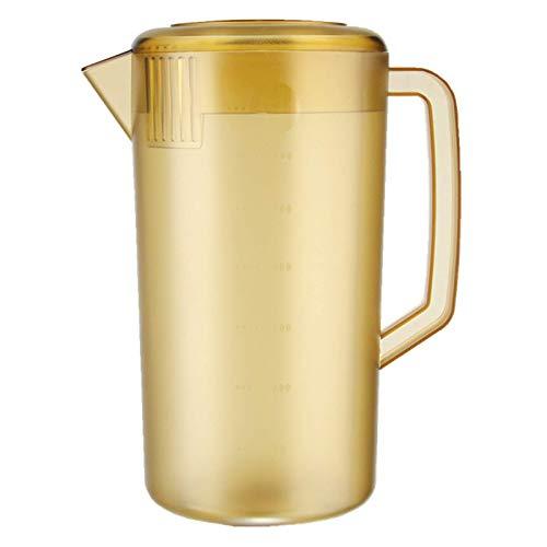 ZEH Jugs de medición de Las Tazas de medición, Botella de Agua plástica con Tapa de Mezcla de Tazas de Mezcla Antiadherente, para el Jugo de Agua de la Cocina, 5000 ml, Blanco FACAI (Color : Brown)