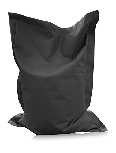 alibey Rechteckig Sitzsack Kinder Bean Bag Riesensitzkissen 15 Farben Sitzkissen Indoor Outdoor Sessel (XXL = 160 x 120, Anthrazit)