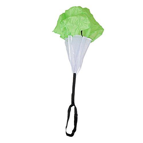 Sharplace Outdoor Fitness Training Übungen Fallschirm Regenschirm Sprinttraining Bremsschirm Krafttraining Leichtathletik Teamsportbedarf Kinder Spielzeug - Grün