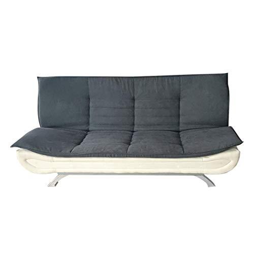 Tianbi Modernes Stoff-Sofabett, Sofa-Sofa, Liegestuhl, verstellbare klappbare Armlehnen-Funktion und Holzbeine für Wohnzimmer/Gästezimmer/Büro