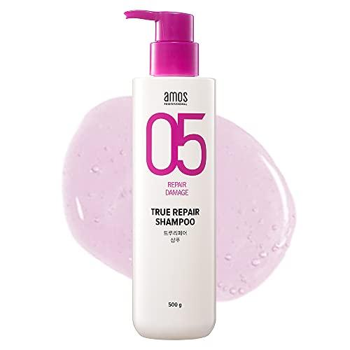 AMOS PROFESSIONAL True Repair Shampoo 500ml (16.9 fl. oz) | Damaged Hair Care Routine | No more Tangled Hair and Split Ends | Korean Hair Salon Brand