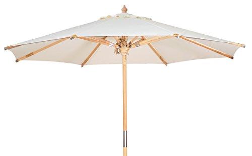 Kai Wiechmann Premium Sonnenschirm Sunshine Luxus ø 300 cm weiß Windauslass UV-Schutz 50+