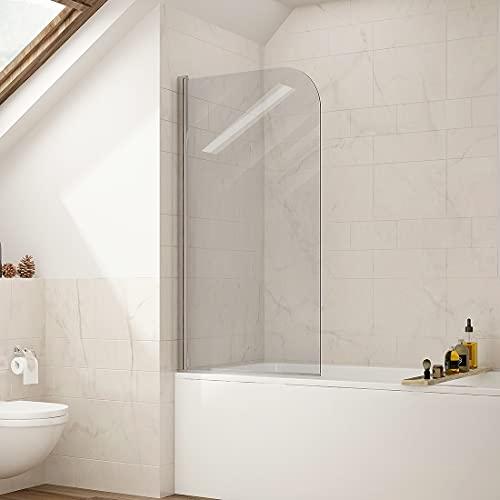 S'AFIELINA Duschabtrennung für Badewannen 70x140cm Duschabtrennung aus 6mm ESG Clear NANO-Beschichtung gehärtetes Sicherheitsglas