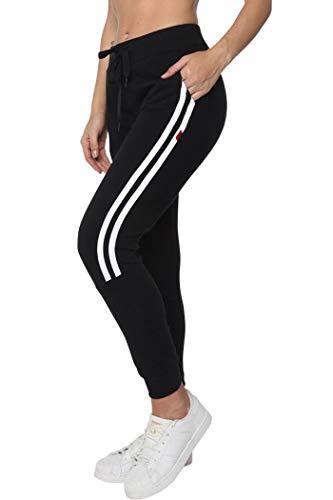 Aditivo Pants para Mujer Cómodo Tipo Jogger Diseño Original con 2 Rayas Blancas. (CH)