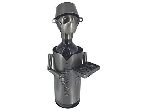 eXODA Porta Botella de Vino Figuras de Metal Cirujano Olaf Design Deco