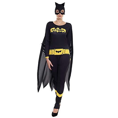 Disfraz Superheroína Mujer Bat Girl Murciélago Capa Máscara【Tallas Adulto S a L】[Talla L] | Disfraces Mujer Superhéroes Carnaval Halloween Regalos Chicas Cosplay Cómics