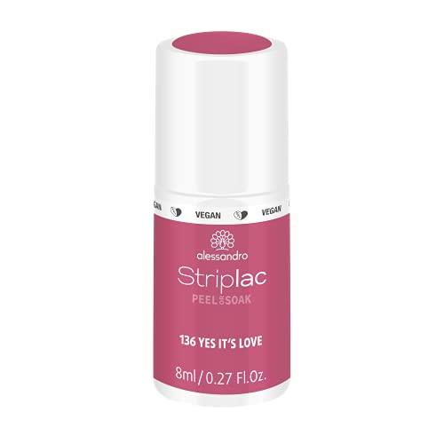 alessandro Striplac Peel or Soak Yes it´s love – LED-Nagellack in Rot-Rosa – Für perfekte Nägel in 15 Minuten – 1 x 8ml