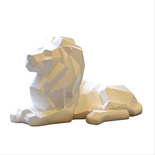 NBVCX Deportes al Aire Libre León Resina Modelo Artesanía Adornos Oficina Bar León Fe Escultura Estatua geométrica Animal Origami Arte Abstracto Decoración Regalo