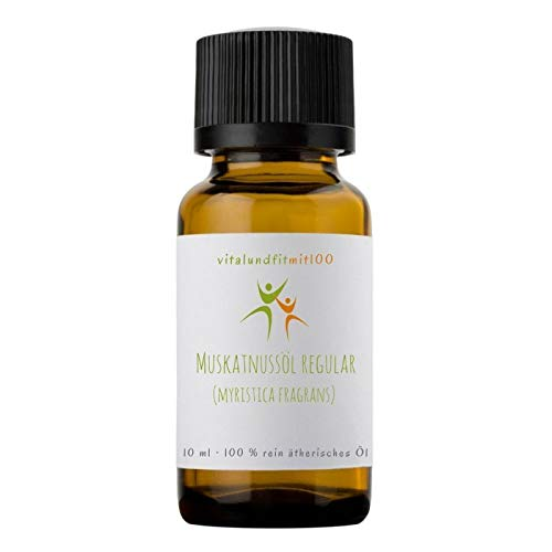 Muskatnussöl regular - 10 ml - myristica fragrans - 100% naturreines ätherisches Öl