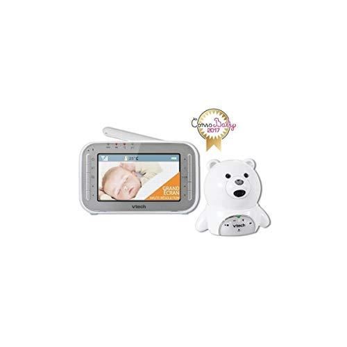VTech BM4200Sistema di monitoraggio e ascolto bebé con video XL, motivo: orsetto, colore: bianco