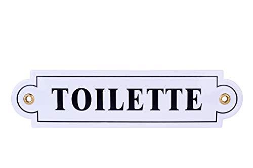 Emailschild Toilette 5x20 cm   WC wetterfest Türschild   Toiletten   Schild Emaille