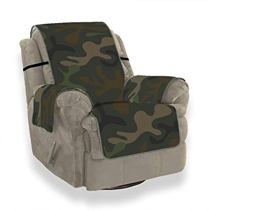 ZSHMG Sofa Slipcover Home Fashion Army Camouflage Pattern Military Design Fashion Slipcover Furniture Protector21 Inch, Ideal Recliner Slipcovers for Pet