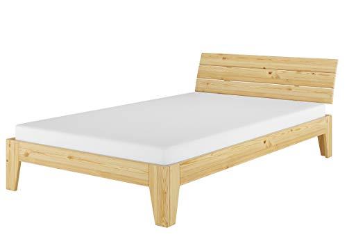 Erst-Holz® Kieferbett Jugendbett Gästebett Überlänge 120x220 Massivholzbett Matratze Rollrost 60.62-12-220 M