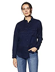 Pepe Jeans Womens Plain Regular Fit Shirt