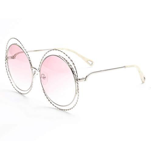 Sebasty Gafas De Sol UV400 Marrón Marrón Gafas De Sol Estilo Street Street Gafas Retro (Color : Pink)