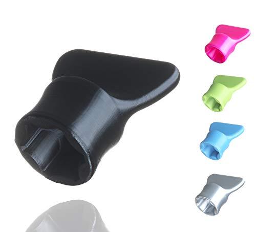 Teigblume - Teiglöser Zubehör für Vorwerk Thermomix Küchenmaschine TM5 + TM6 (Schwarz)