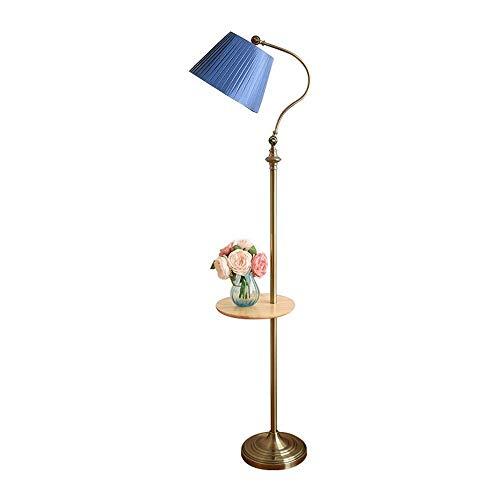 Tyannan Lámpara de pie retro sala de estar dormitorio lámpara de cabecera del sofá mesa de té vertical del vector de la lámpara de la lámpara de pie multifuncional