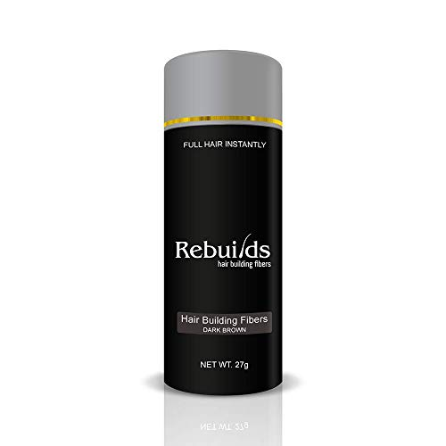 Rebuilds Hair Building Fibers, Dark Brown, 27 grams