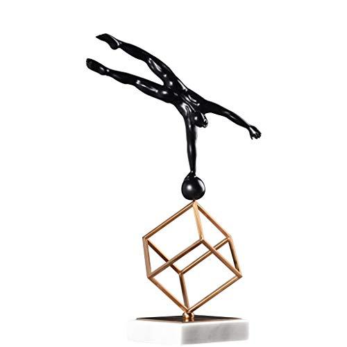 HTDZDX Escultura Decoración Suave Simple Figura De Metal Decoración Muebles Sala De Estar Vinoteca TV Cabina Estatua (Size : C)