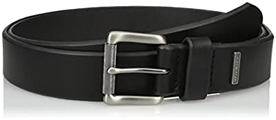 Dickies Men's Leather Classic Casual Belt, Black, Large (38-40)