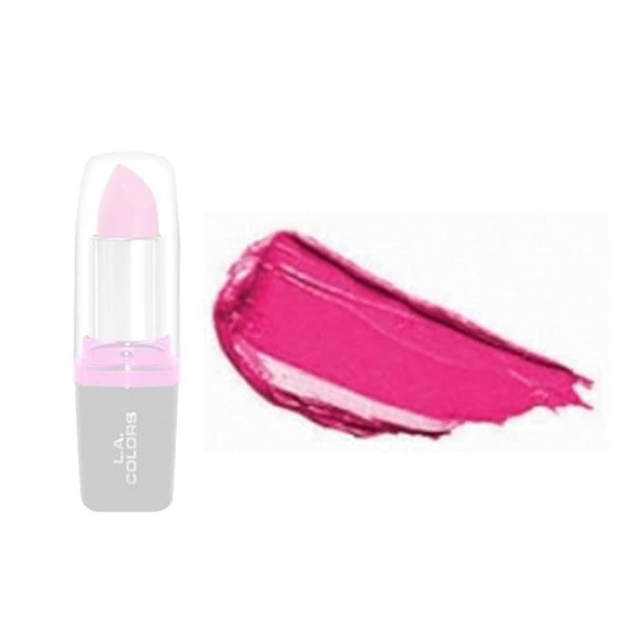 暗い発明郵便屋さんLA Colors Hydrating Lipstick - Hot Pink (並行輸入品)