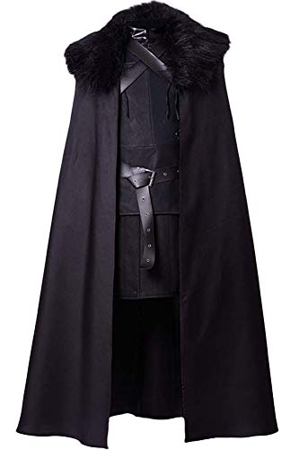 Cosplaysky Game of Thrones Jon Snow Costume Night's Watch Outfit XX-Large