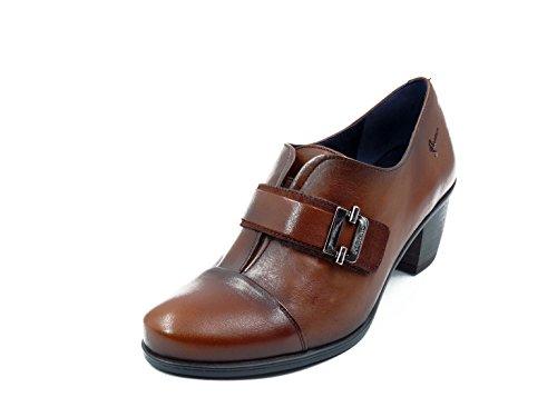 Zapato Mujer Dorking Fluchos   Piel Color Cuero Cierre