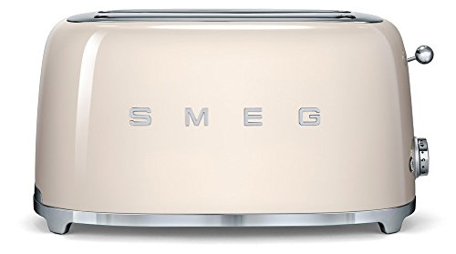 Smeg TSF02CREU Toaster 4 Scheiben, Creme