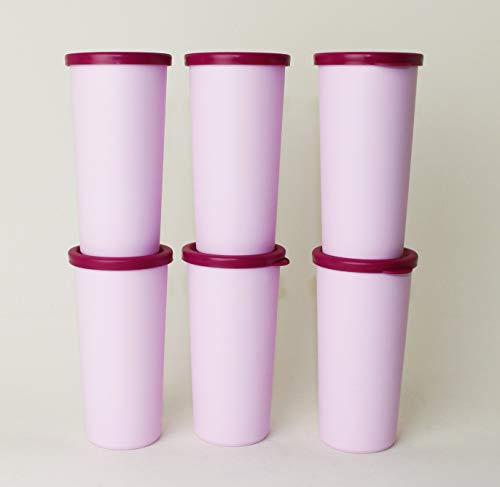 TUPPERWARE 6 Joghurtbecher für Siebservierer Joghurtbereiter + 80ml Becher Rosa