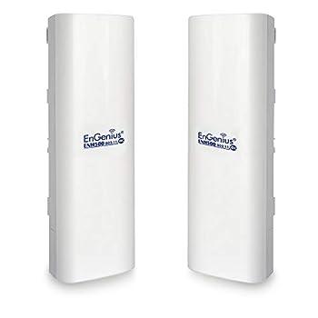 EnGenius Technologies ENH500v3 Wi-Fi 5 Wave 2 Outdoor AC867 5GHz Plug-n-Play Wireless Bridge PTP/PTMP IP55 27dBm 16 dBi High-Gain Antenna Long Range up to 5 Miles Gigabit Port [2-Pack]