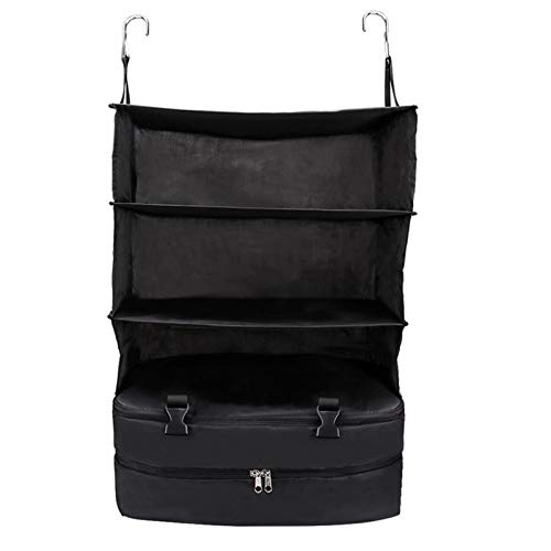N / C Portable suitcase storage bag, hanging travel bookshelf bag, large-capacity storage, built-in hanging shelf, space-saving suitcase, reduce wrinkles, can be carried out