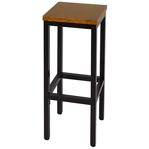eSituro SBST0284 1 x Barhocker Barstuhl Küchenstuhl, Platte aus hochwertigem Massivholz, Sitzhöhe ca.78cm, Hell Eiche
