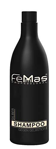 Femmas Silber-Shampoo 1000 ml | Color Save Silver Shampoo gegen Gelbstich | Farbpflege-, Farbschutz-Shampoo für graues, blondiertes & coloriertes Haar