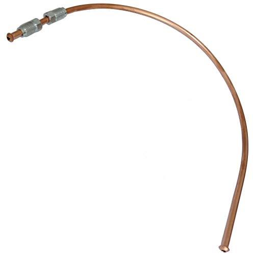 AERZETIX: Línea de freno manguera tubo de cobre Ø4.76mm con racores M10x1/M10x1 (40cm)