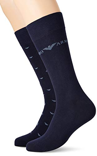 Emporio Armani Underwear Herren Short  3er pack Socken,  blau(Blu 00134), One Size (Herstellergröße: TU)
