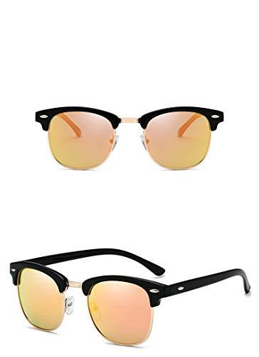 Gafas de sol Nerd con estilo para hombre y mujer polarizadas - Gafas de sol unisex UV400 en 9 colores diferentes (Style 9)