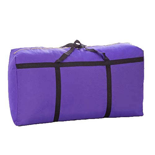 GCCLCF Storage Bag with Zipper Duvet Storage Bag Storage Bag Under The Queen Bed for Moving Driving Travel Mobile Comfortable Tasteless Fabric Laundry BagPurple