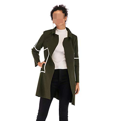 Carl Hamilton Vrouwen Dunne Tweed Coat Patchwork Multi kleuren Lange Top