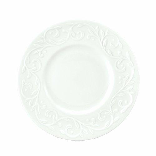 Lenox Opal Innocence Carved 7-1/4-Inch Dessert Plates, Set of 4 -