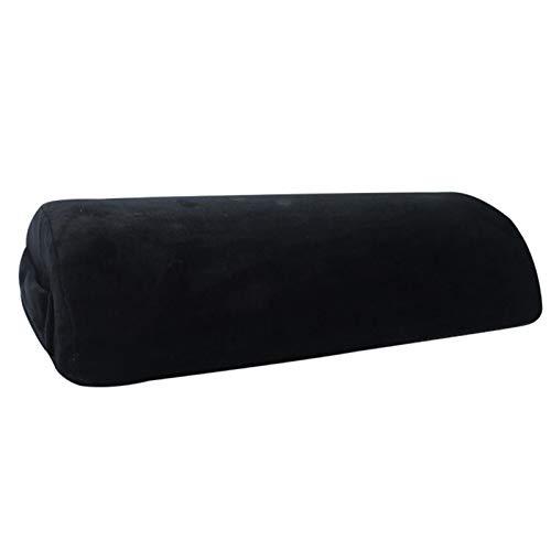 YEES Reposapiés bajo el cojín de escritorio con espuma viscoelástica suave y mullida con funda de terciopelo para la rodilla y la espalda y el balancín para todos los usos y el máximo estilo.