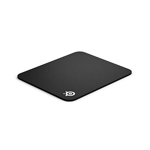 SteelSeries QcK Gaming Surface - Medium Thick Cloth - Best Selling Mouse Pad of All Time - Peak Tracking and Stability- Black (Renewed)