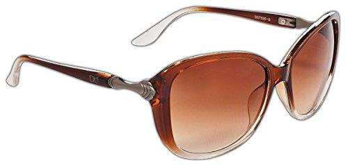 Dice Damen Sonnenbrille, light brown, One size, D07530-5