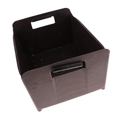 P Prettyia Flaschenträger Flaschenkorb Flaschenbox aus Kunststoff für bis zu 20 Flaschen - Grau