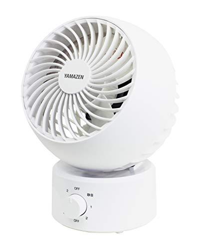 [山善] サーキュレーター 10畳 (換気/空気循環) お手入れ簡単 静音 首振り固定 上下角度調節 風量3段階調節 ホワイト YAS-FW15(W) [メーカー保証1年]