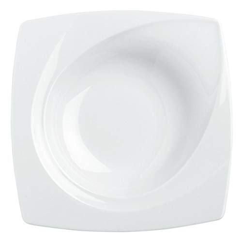 VEGA 10013724 Teller tief Vilano, quadratisch, 400ml, 23x23x4 cm (LxBxH), weiß, 6 Stück