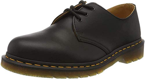 Dr. Martens, 1461 3-Eye Leather Oxford Shoe for Men and Women, Black Smooth, 6 US Women/5 US Men
