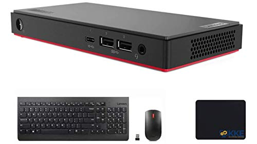 Lenovo ThinkCentre M90n-1 Nano Mini Business Desktop,Intel Core i3-8145U,8GB RAM Memory, 2TB PCIe NVMe Soild State Drive, Win 10 Pro, Essential Wireless Keyboard and Mouse Combo, KKE Bundle