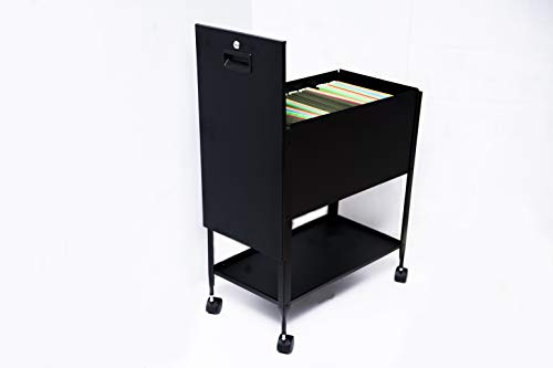 Rolling File Cabinet Heavy Duty XL Cart 2 Drawers Wheels Letter Size Hanging Folder Storage Mobile Organizer Steel Metal Lockable Sliding Pedestal & eBook